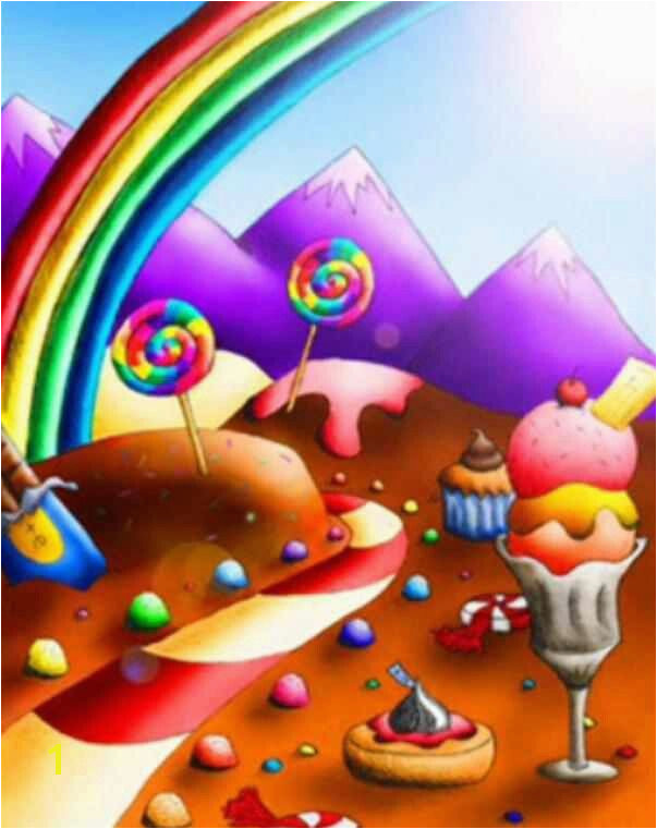 Cute candyland wallpaper
