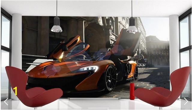 3D photo wallpaper custom 3d wall murals wallpaper Cool modern aesthetic latest sports car murals 3d living room decoration