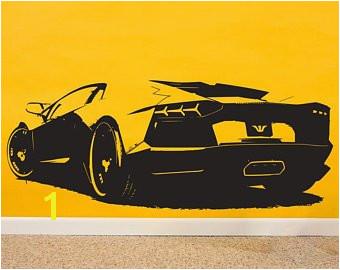 Lamborghini Wall Art Race Car Decor Lamborghini Wall Decal Lamborghini decal race car wall decal race car decal sports car decals Aventador