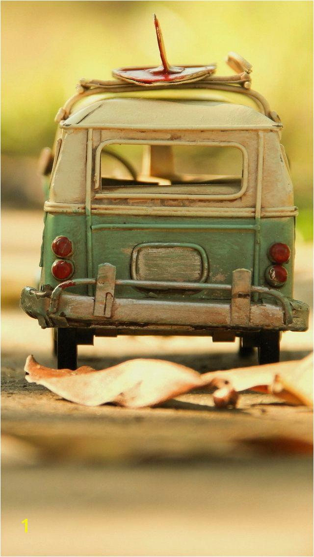 Vintage Volkswagen Toy iPhone 5 Wallpaper by Leonid Afremov Stuff We Like