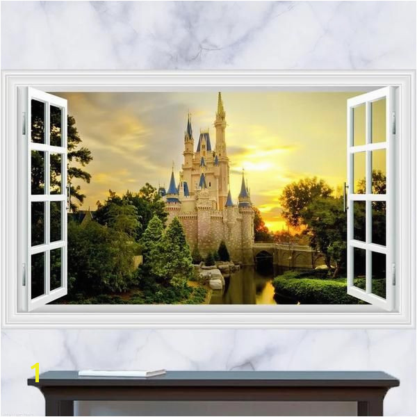 3D Disney Castle Wall Decals & Wall Stickers