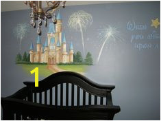 Nursery Murals Disney Castle Nursery When you wish upon a star