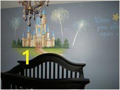 Nursery Murals Disney Castle Nursery When you wish upon a star