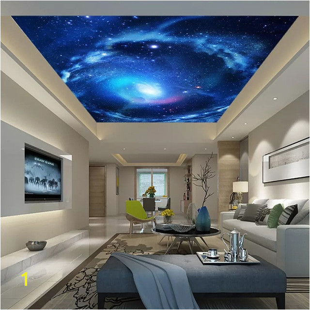Custom 3D Wallpaper For Living Room Bedroom Ceiling Decoration Mural Universe Starry Sky Ceiling Fresco Wall Mural Paper