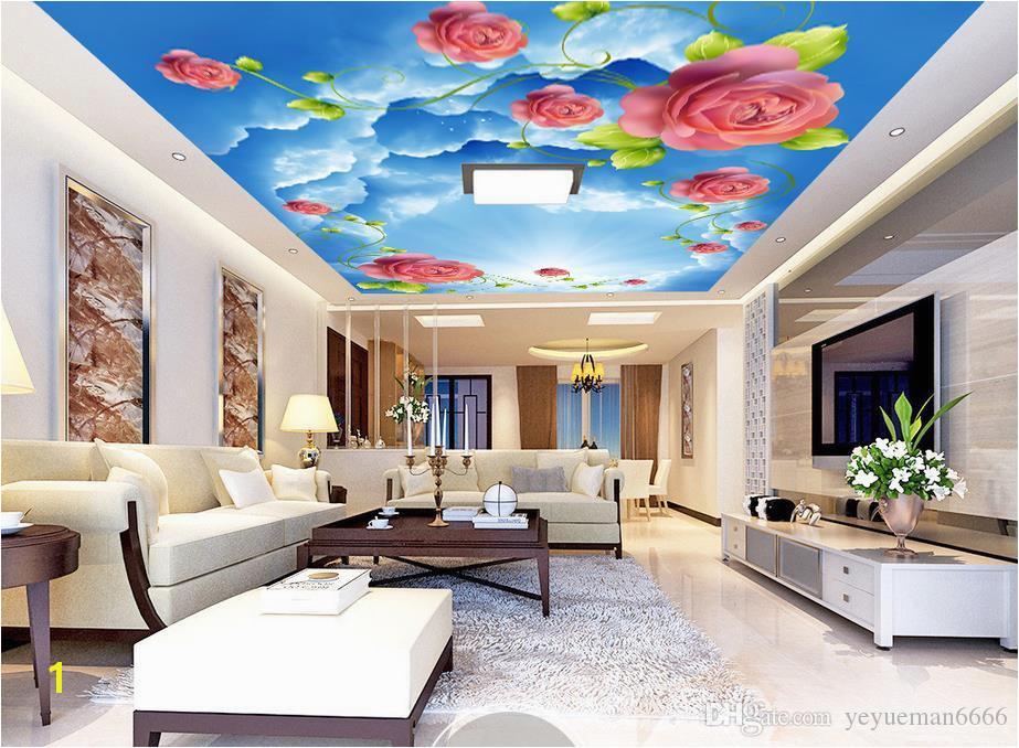 Custom 3d Ceiling Sunny Sky Rose 3d Wallpaper For Ceilings Wallpapers For Living Room 3d Ceiling Wallpaper Hd Hd Wallpaper Hd I From Yeyueman6666