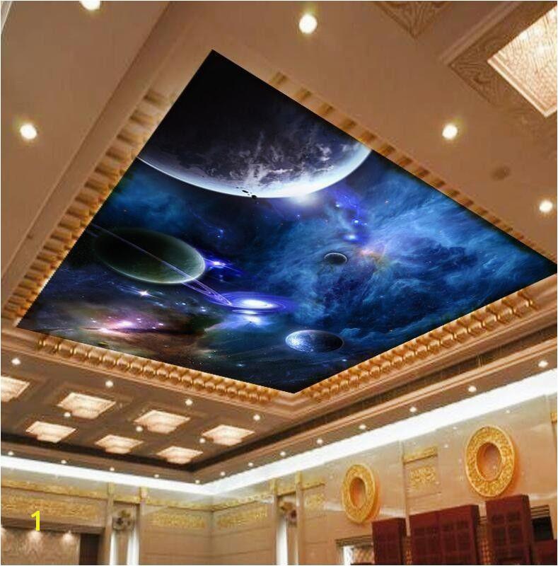 Ceiling Murals Night Sky 3d Wallpaper Mural Night Clouds Star Sky Wall Paper Background