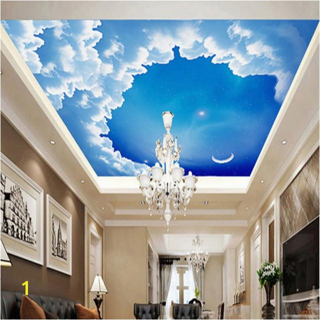 Ceiling Murals Night Sky Ceiling 3d Stereo Wallpaper Starry Night Sky Wallpaper Modern