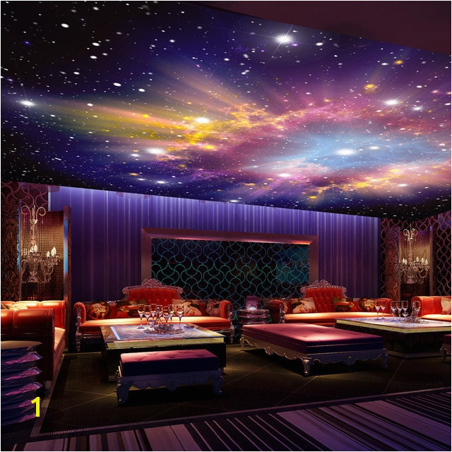 Custom Mural 3D Star Nebula Night Sky Wall Painting Ceiling Smallpox Wallpaper Bedroom Sofa TV Background Galaxy Wallpaper