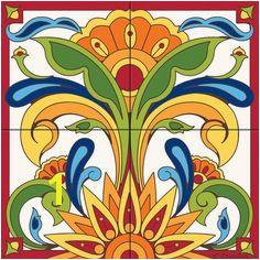 Ceramic Mural Designs 1380 Best Tile Murals Images In 2019