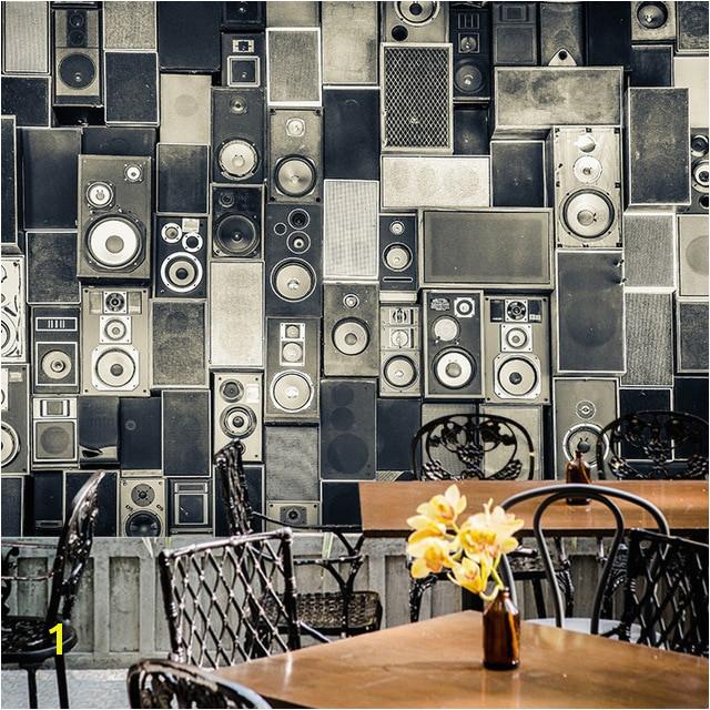 Chair Rail Wallpaper Murals Custom Photo Wallpaper 3d Stereo Nostalgia Speaker Collage Large