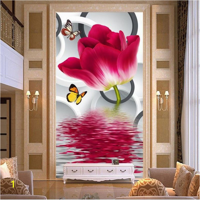 Cheap flower house wallpaper Buy Quality flowering hostas directly from China wallpaper garden Suppliers HD bamboo murals TV backdrop 3d wall murals