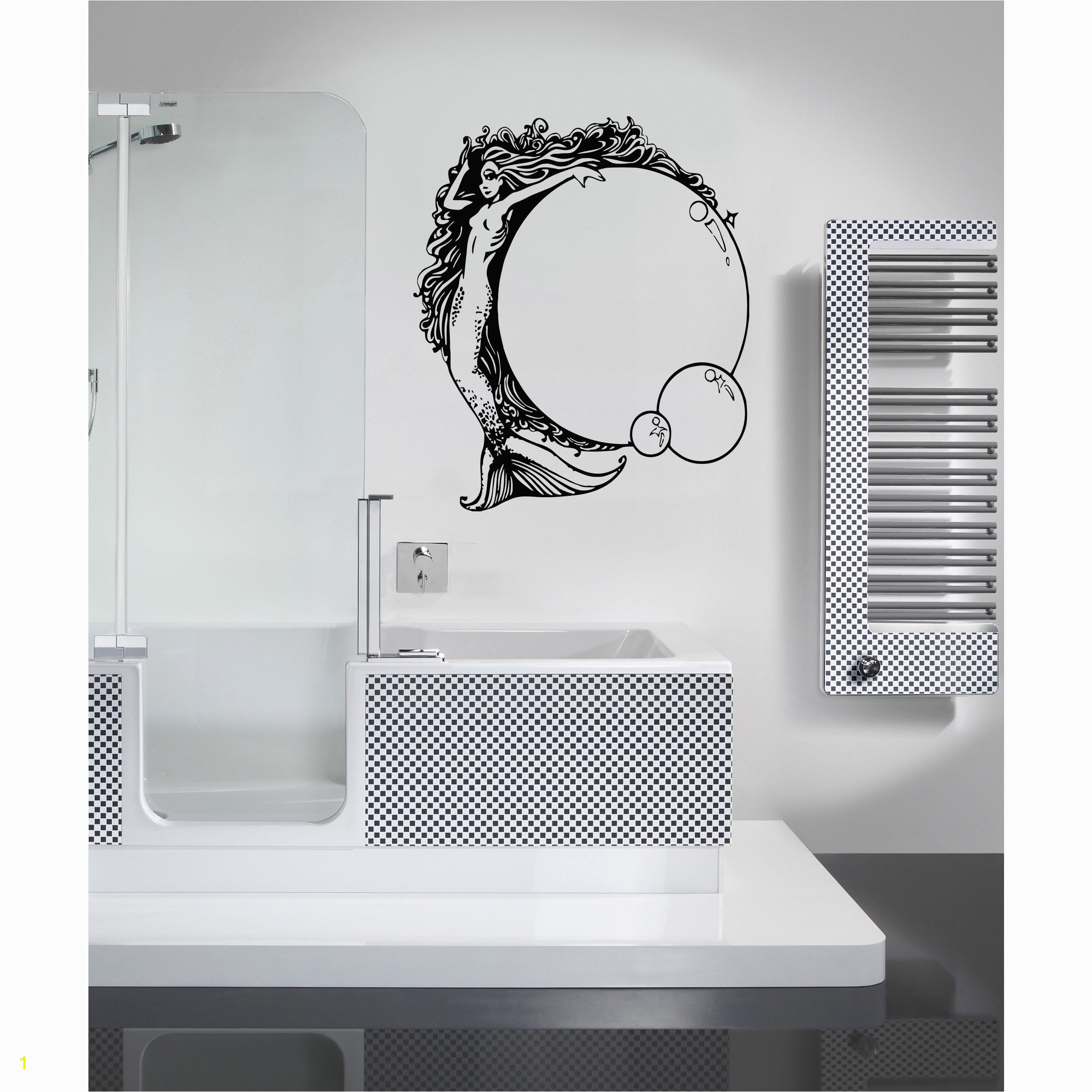 Cheap Wall Murals and Decals Shop Mermaid and Bubble Wall Art Sticker Decal Free Shipping