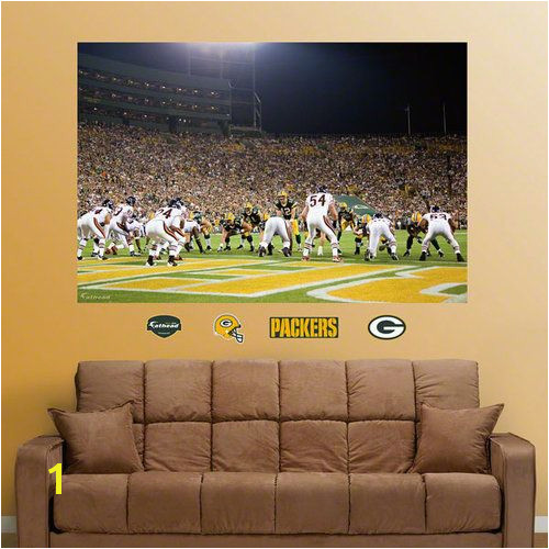 NFL Green Bay Packers Chicago Bears End Zone Mural Fathead