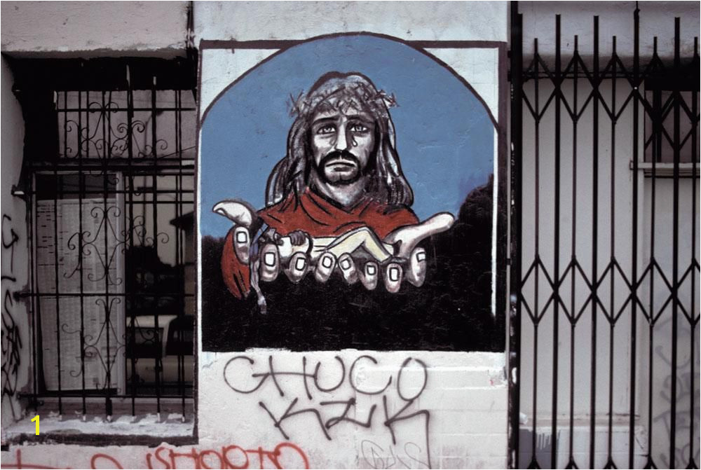 Memorial to Chuco Mexican Christ San Pedro Place SCLA 1994 Camilo José Vergara
