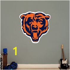 Chicago Bears Bears Head Logo Giant ficially Licensed NFL Removable Wall Decal