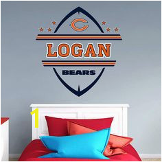 The Chicago Bears Personalized Name wall decal from Fathead is a great way to personalize young
