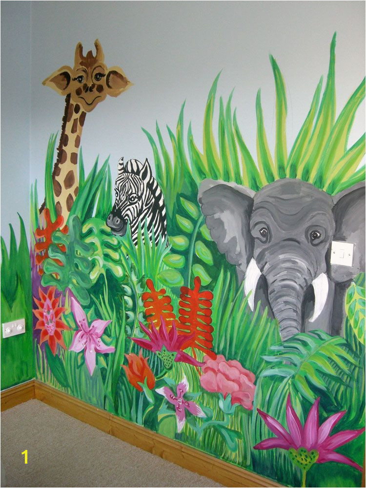 Childrens Wall Murals Painted Jungle Scene and More Murals to Ideas for Painting Children S