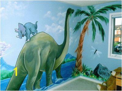 Kids Dinosaur Wall Mural Covering Rooms Kids Bathroom