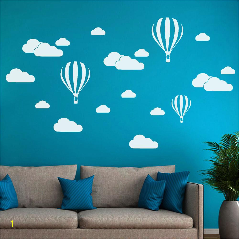 DIY Clouds Balloon Wall Decals Children S Room Home Decoration Art Wall Sticker Decoration Removable Stickers Art Wall Art Stickers Uk Wall Art Tree