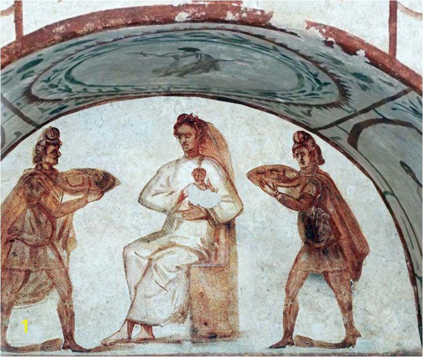 Nativit con i magi nelle Cata be dei SS Marcellino e Pietro a Roma
