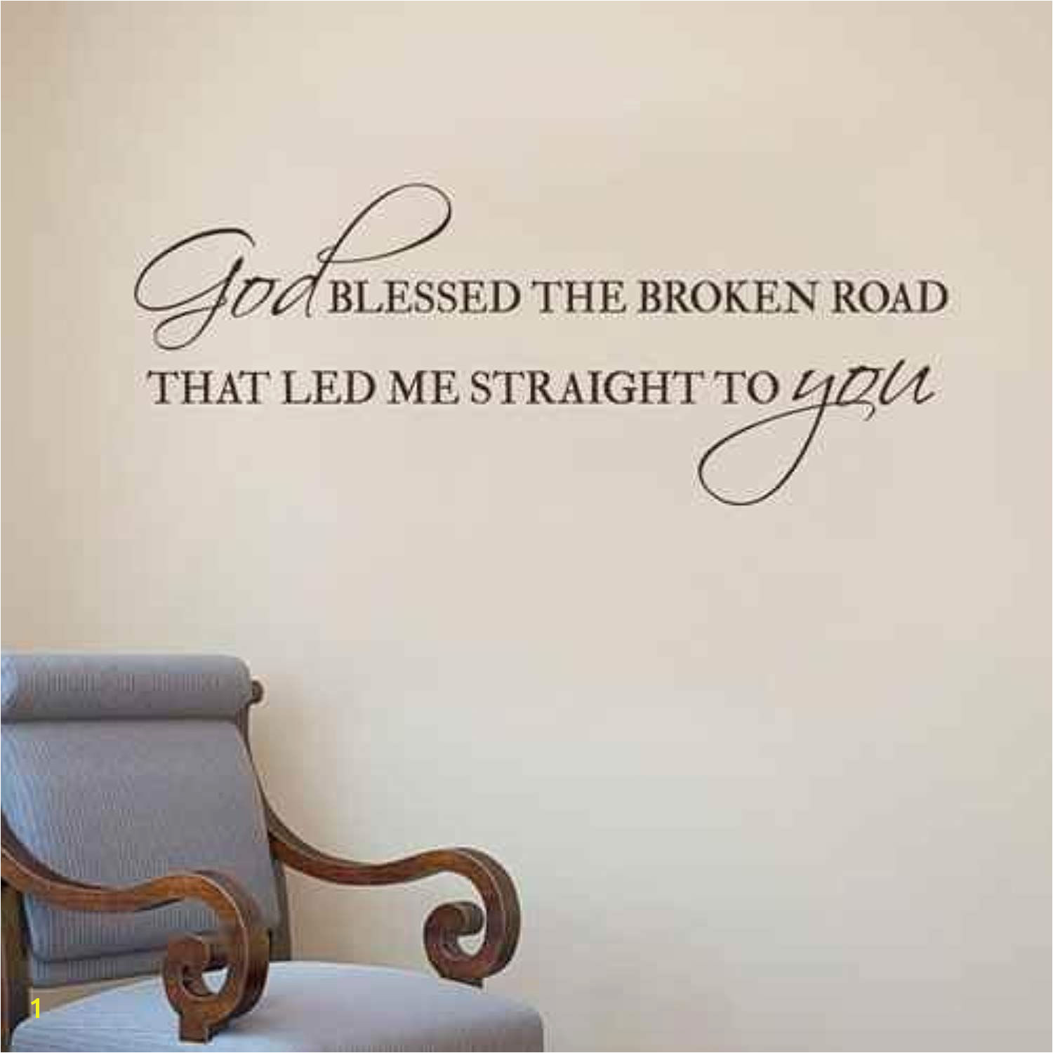 God Blessed The Broken Road Decal Vinyl Wall Decal Quote Christian Bedroom Decor Home Decor Visit the image link more details This is an affiliate link