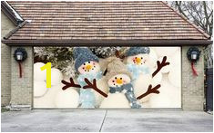Items similar to Christmas Double Garage Door Cover Christmas Wall Art Christmas Garage Door Murals Outdoor Decor Xmas Mural Xmas Decoration DAS57 on