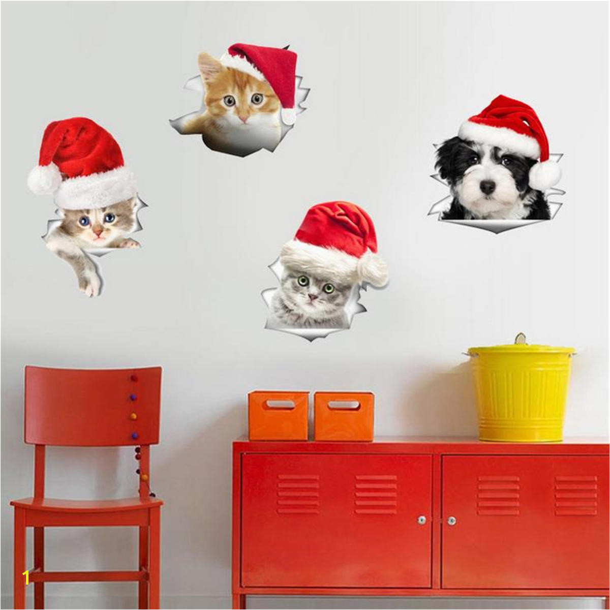 Christmas PVC Mural Wall Fridge Stickers Toilet Stool Poster Decals Home Decor Sticker COD