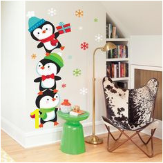 Christmas Penguin Wall Decals the cutest little holiday penguin
