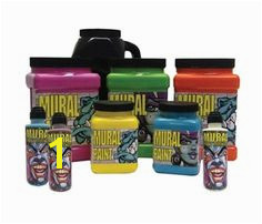 Lightfast durable acrylic paints for outdoor art and murals New Mural Paint and Paint Markers from artist favorites Chroma are specifically designed for