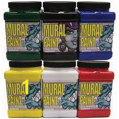Acrylic Paint Chroma Mural Paint Set 6 Color Pint Bright Set
