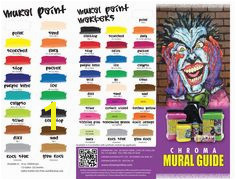 Chroma Mural Paint & Chroma Mural Paint Markers Colors with Pigments Color Charts Paint Markers