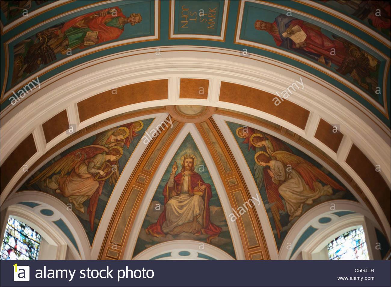 St Cuthbert s Parish Church roof above alter Edinburgh Stock Image