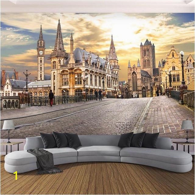 Wallpaper Custom 3D Wall Murals European City Building Landscape Wall Paper Living Room Cafe Creative Decor Papel Mural 3D