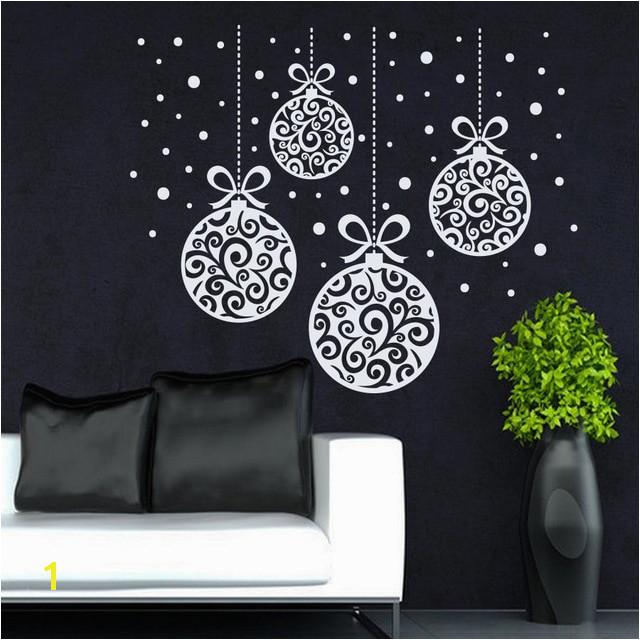 Christmas Home Window Art Decorative Wall Sticker Merry Christmas Decoration Vinyl Removable Wall Mural MC102