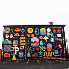 Mural on West 25th Street Cleveland Ohio by David Shillinglaw Street Mural