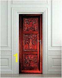 Buy DIY 3D Narnia wardrobe entrance Door Sticker Self adhesive Waterproof Wallpaper post for home