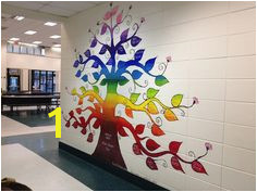 Tina Sanford s word stem tree mural at Huddleston Elementary Mural Art Wall Murals Tree