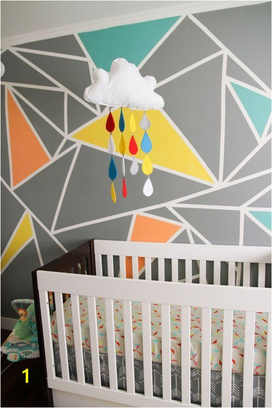 Archer s Colorful Nursery with Geometric Elements — My Room