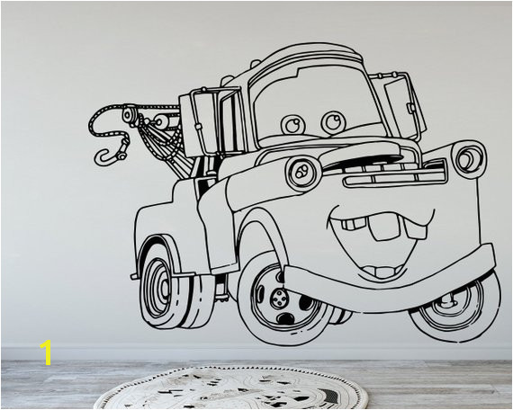 Tom Mater Cars Disney Wall Decal Wall Art Wall Stickers Kids Room Decor Cute Stickers Vinyl