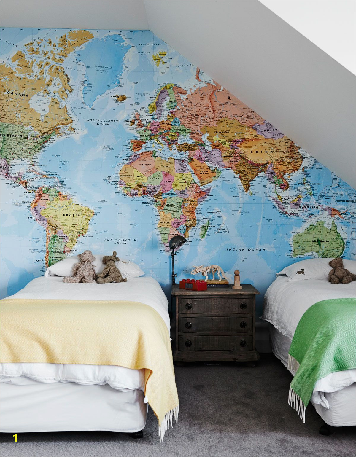 Dress your space with these creative map wallpaper map mural and map wall and window designs that will let you travel the world