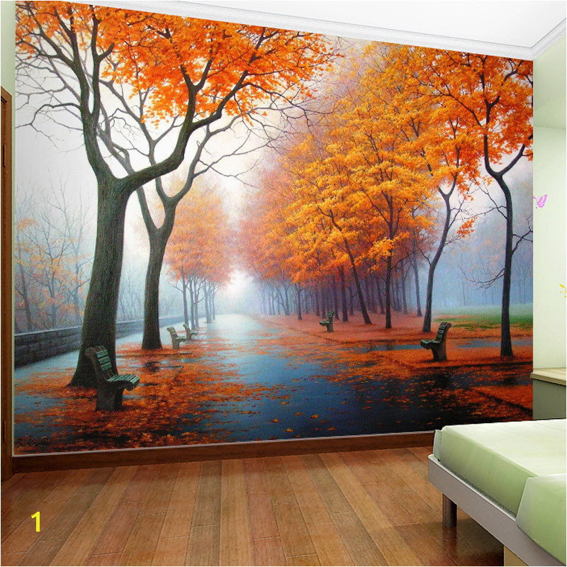 Customized Wallpaper 3D Autumn Maple Leaf Natural Scene Wall Paper Roll Living Room Bedroom Home Decor Mural Wallpaper