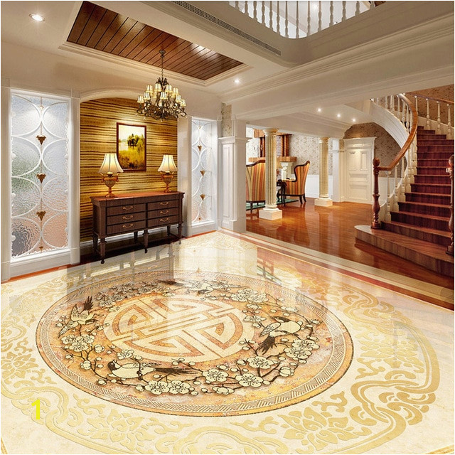 Custom Floor Tile Murals Custom 3d Floor Tiles Mural Wallpaper European Style Marble Luxury