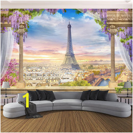 Custom Any Size Wallpaper 3D Stereo Rome Column Paris Tower Murals Restaurant Living Room Bedroom Backdrop Wall Decor 3 D