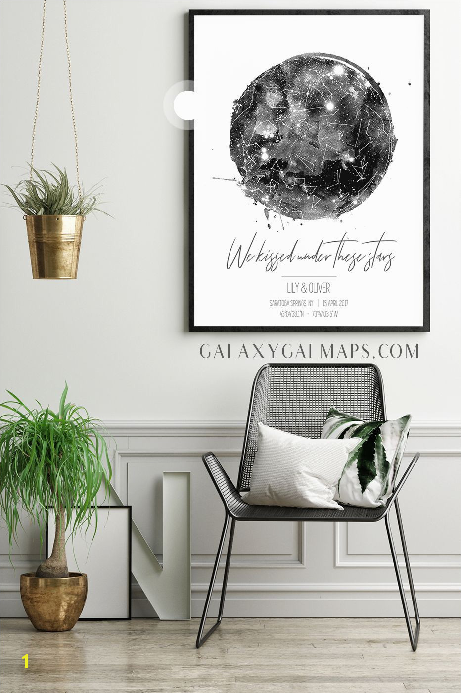 Custom Star Map Astronomy Print Wall Art Flower Art Mint Printable Sea Wall Art Minimalist Wall Baby Shower Gift