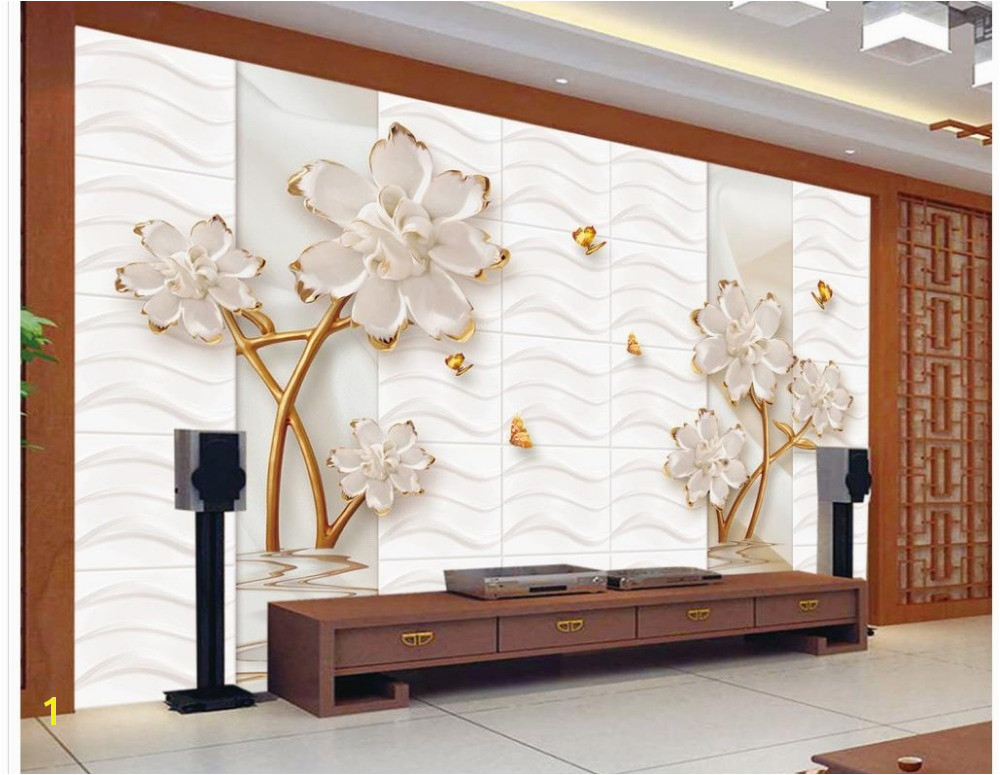 customized wallpaper for walls Embossed flower Home Decoration custom 3d photo wallpaper 3d wall murals wallpaper