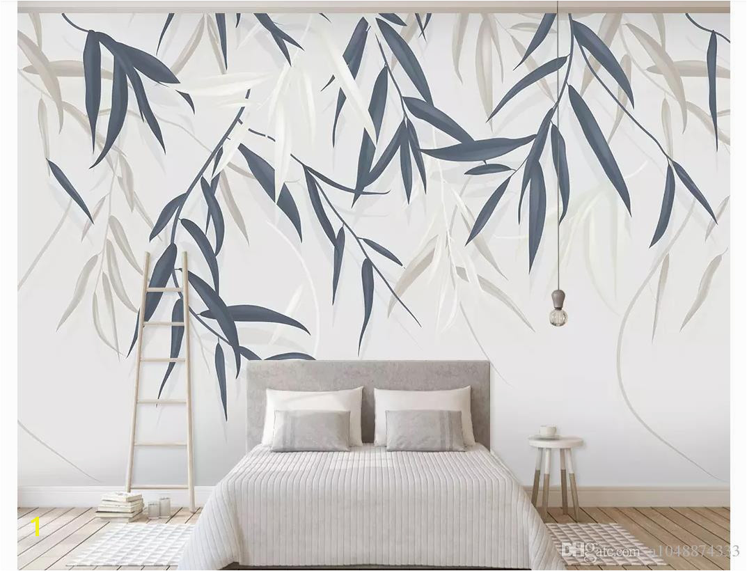 3D Wall Murals Wallpaper Custom Picture Mural Wall Paper Minimalistic Hand Drawn Vintage Leaf Plant Flower Tv Background Wall Home Decor Canada 2019 From