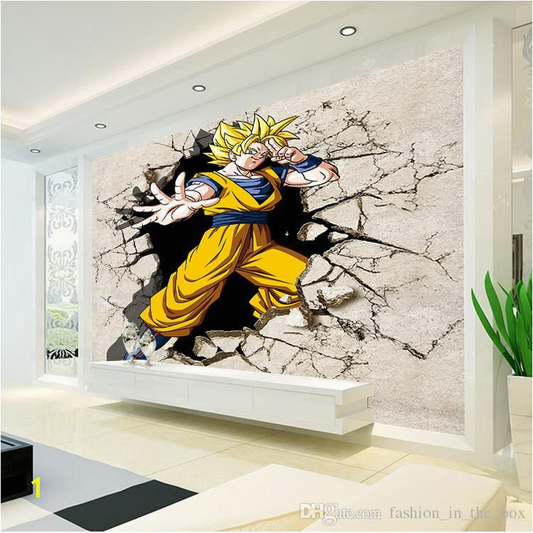 Dragon Ball Wallpaper 3D Anime Wall Mural Custom Cartoon Wallpaper Boys Kids Bedroom Livingroom wall Art Room Decor Hallway
