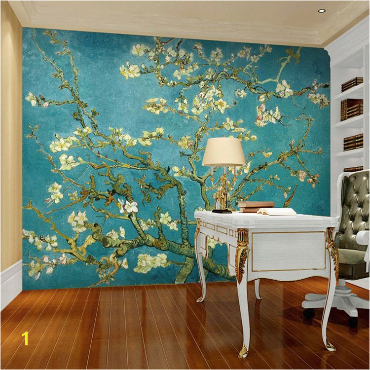 Van Gogh The Apricot blossom tree Art wallpaper Custom Wall