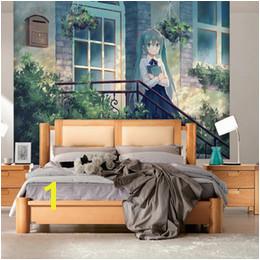 Anime Wall Murals UK Hatsune Miku Wallpaper Anime Girls Wall mural Custom 3D wallpaper