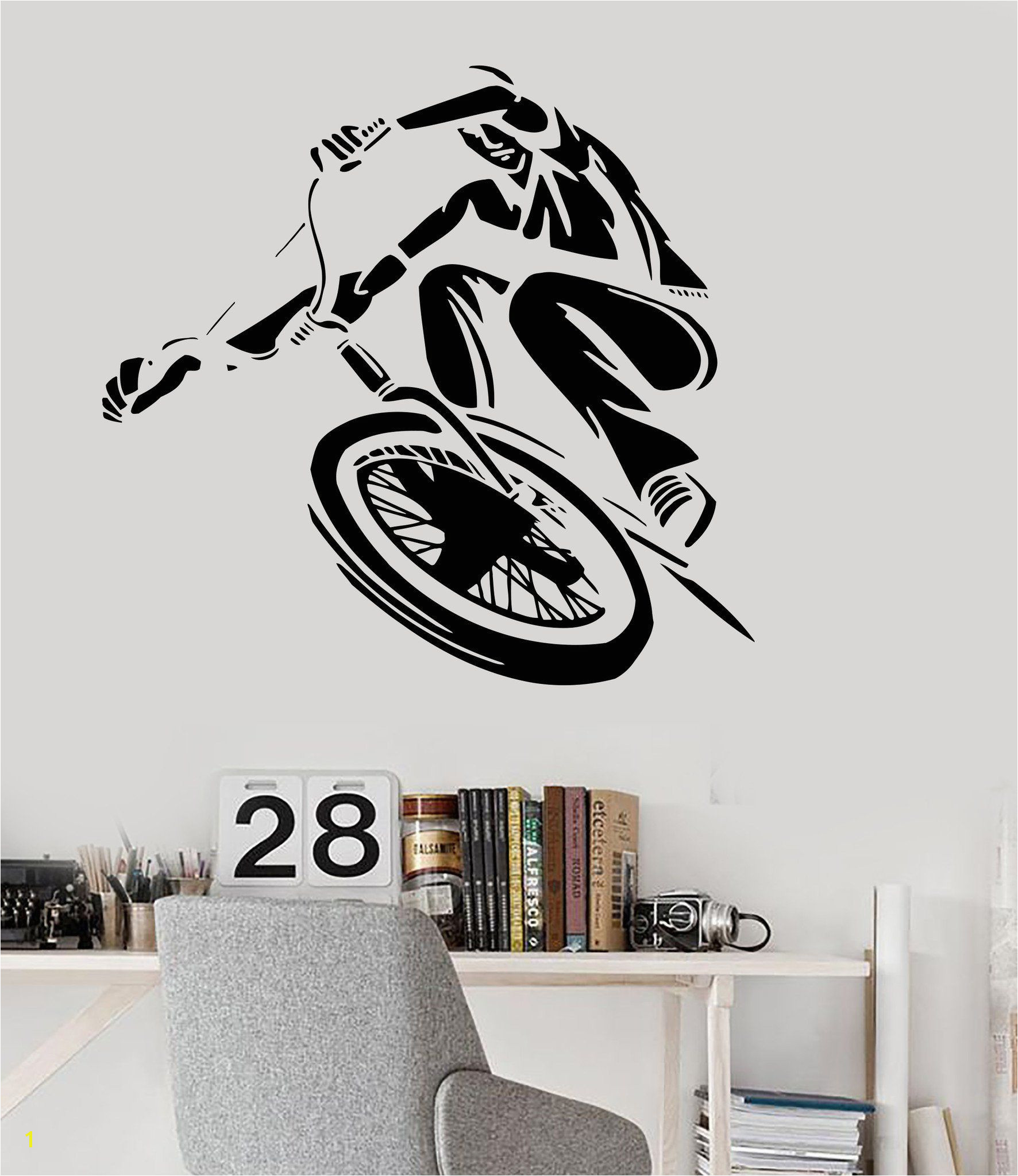 Vinyl Wall Decal BMX Bike Cyclist Teen Room Art Urban Style Stickers Unique Gift ig3157